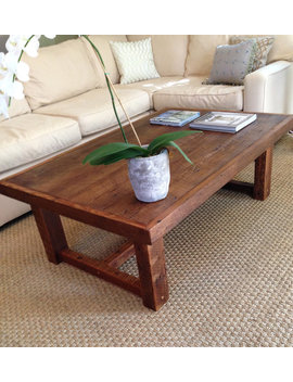 Large Rustic Pi Coffee Table Made From Reclaimed New Orleans Barge Board by Etsy