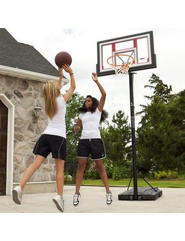 "Lifetime 48"" Shatterproof Portable One Hand Height Adjustable Basketball System With Basketball, 90491 by Lifetime"