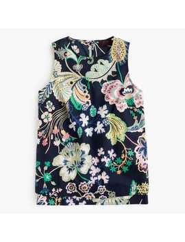 Tall Sleveless Tank In Liberty® Symphony Floral by Tall Sleveless Tank In Liberty