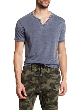 Short Sleeve Solid Knit Tee by Lucky Brand