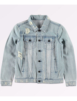 Elwood Boys Trucker Light Blue Denim Jacket by Love, Fire