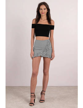 That Extra Mile Black And White Stripe Skirt by Tobi