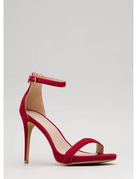 Out Tonight Velvet Ankle Strap Heels by Go Jane