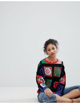 Asos Premium Sweater In Hand Crochet by Asos Collection