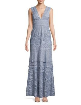 Raymee Patchwork Lace Gown by Bcbgmaxazria