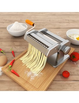 Sailnovo Pasta Maker Machine, Stainless Steel Noodles Cutter With Clamp For Spaghetti Lasagna Tagliatelle by Sailnovo