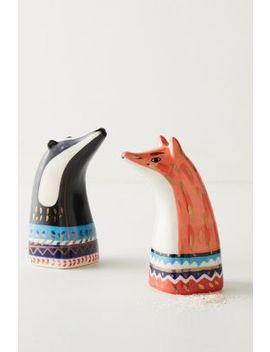 Forest Dweller Salt & Pepper Shaker Set by Bird Can Fox