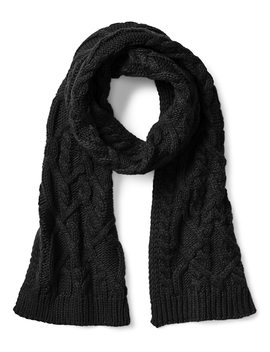 cable-knit-colorblock-scarf by gap