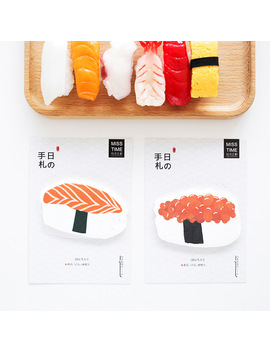 4 Pcs/Lot Sushi Sticky Notes Japanese Food Memo Pad Post It Diary Sticker Scrapbooking Office Accessories School Supplies 6564 by Ali Express