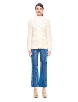 La Vie Hand Knit Cable Pullover by Rebecca Taylor