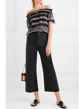 Merida Cropped Cotton Canvas Wide Leg Pants by Apiece Apart