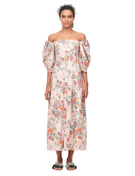 Off The Shoulder Marlena Floral Dress by Rebecca Taylor