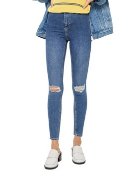 Joni Distressed Skinny Jeans by Topshop