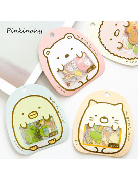 50 Pcs /Bag Kawaii Cute Bear Cat Sticker Diy Scrapbooking Diary Decorations Sticky Notes Pvc Memo Pad Deco Phone Stickers by Ali Express