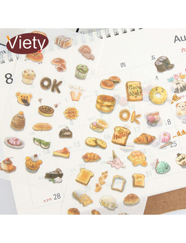 6 Sheets/Lot Delicious Food Donuts Paper Sticker Diy Scrapbooking Diary Album Sticker Post It Stationery School Supplies by Ali Express
