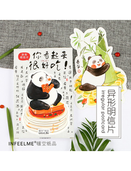 30 Pcs/Pack Novelty Heteromorphism Cute Panda Animal Greeting Card Postcard Birthday Letter Envelope Gift Card Set Message Card by Ali Express