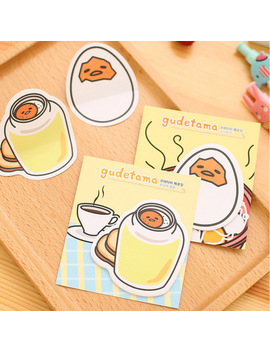 1 X Gudetama  Memo Pad Kawaii Paper Sticker Post It Sticky Notes Papelaria Stationery School Supplies by Ali Express