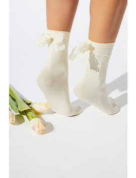 Lace Ribbon Crew Sock by Free People