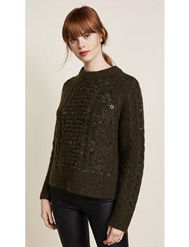Jemima Crew Neck Embroidered Sweater by Rag & Bone