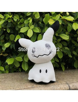 "Sun Moon Ghost Type White Mimikyu Mimiqui Plush Toy Soft Cartoon Stuffed Animal Cuddly Doll 11"" by Vaakee Store"