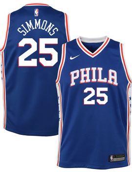 Nike Youth Philadelphia 76ers Ben Simmons #25 Royal Dri Fit Swingman Jersey by Nike