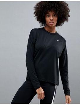 Nike Running Dry Element Long Sleeve Top In Black by Nike