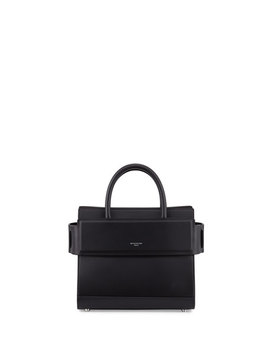 Horizon Mini Leather Satchel Bag, Black by Givenchy