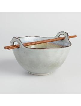 Gray Reactive Glaze Noodle Bowls Set Of 4 by World Market