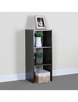 31 Inch Stacking Vertical Storage Organizer In Espresso by Bed Bath And Beyond