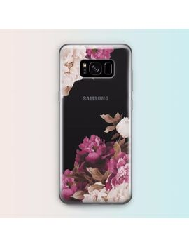 Flower Floral Retro Tpu Rubber Clear Case Cover For Samsung Galaxy S8 S7 Edge S6 by For Samsung