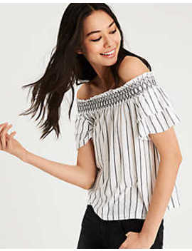 Ae Soft & Sexy Off The Shoulder T Shirt by American Eagle Outfitters