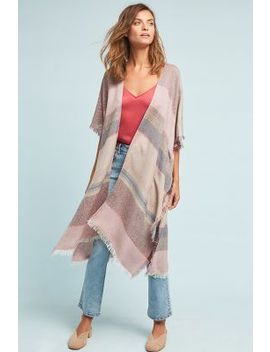 Cozy Striped Kimono by Anthropologie