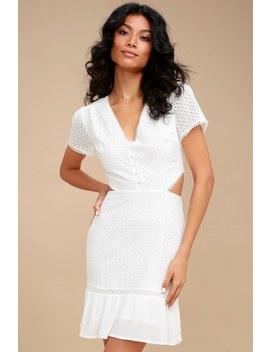 Brigitte White Lace Cutout Dress by Lost + Wander