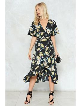 We Just Grow Together Floral Wrap Dress by Nasty Gal