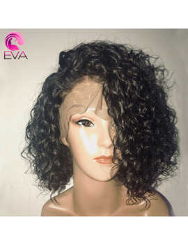 150 Percents Density Curly Lace Front Human Hair Wigs With Baby Hair Pre Plucked 13x6 Short Human Hair Bob Wigs Brazilian Remy Eva Hair by Eva Hair Official Store