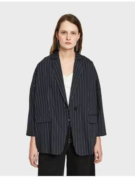 Cotton Stripe Shirt Jacket by Need Supply Co.