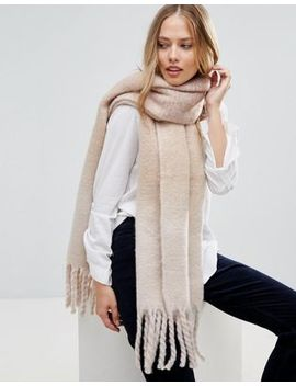 Yumi Super Soft Tonal Check Scarf by Asos Brand