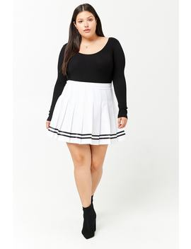 Plus Size Pleated Tennis Skirt by Forever 21