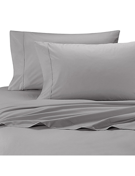 Wamsutta® Cool Touch Percale Full Fitted Sheet In Light Grey by Bed Bath And Beyond