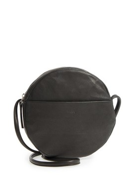 Circle Calfskin Leather Crossbody Bag by Baggu