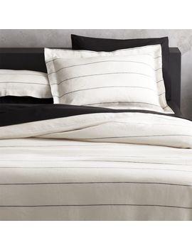Linen Pinstripe Bedding by Crate&Barrel