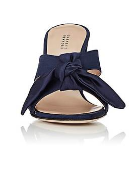 Bow Detailed Satin Mules by Barneys New York