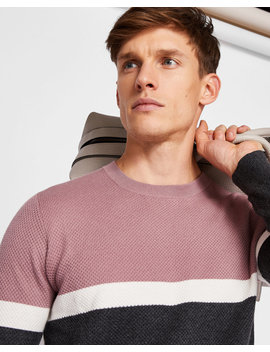 Color Block Cotton Sweater by Ted Baker