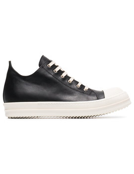 Black Lace Up Sneakers by Rick Owens
