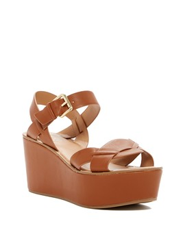 Julio Leather Platform Wedge by Franco Sarto