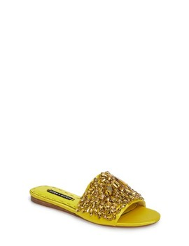 Abbey Crystal Embellished Slide Sandal by Alice + Olivia