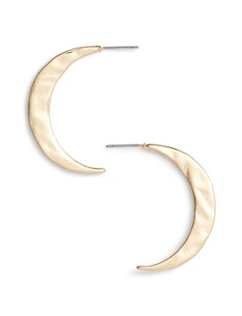 Hammered Crescent Hoop Earrings by Treasure & Bond