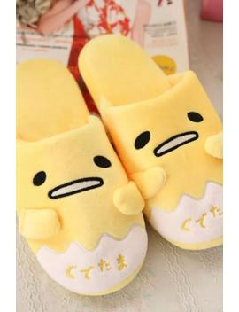 1 Pair Cute Funny Cartoon Animation Gudetama Lazy Egg Funny Winter Home Floor Slippers Holiday Toy Girl Gift by Happy Nic2015