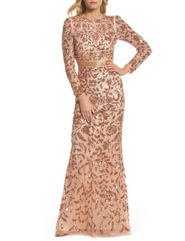 Metallic Jacquard Ballgown by Mac Duggal
