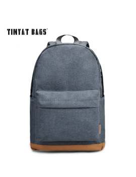 Tinyat Men's 15 Inch Laptop Backpack Computer Male School Backpacks Rucksacks Leisure For Teenage Mochila Escolar Gray Bag 1101 by Tinyat Official Store